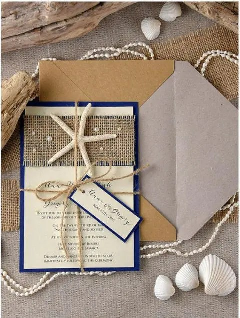 Picture Of Beach Wedding Invitation