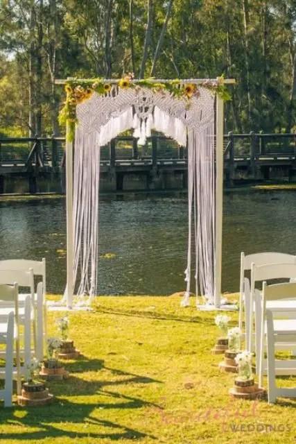 21 Macrame Knotted Dcor Ideas For Boho Chic Weddings  Weddingomania