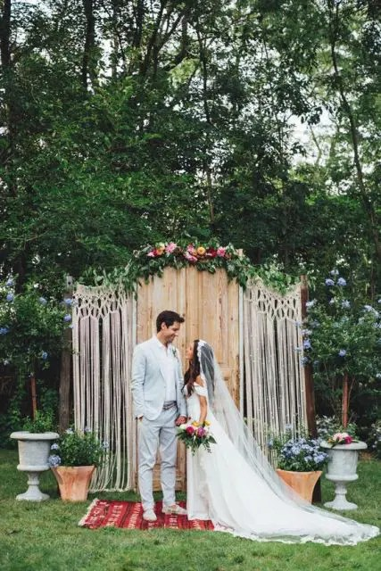 21 Macrame Knotted Dcor Ideas For Boho Chic Weddings