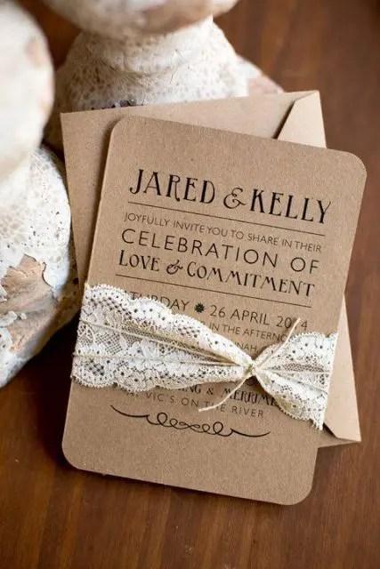 Wedding Invitation Card Ivory Whole Paper Craft Greeting