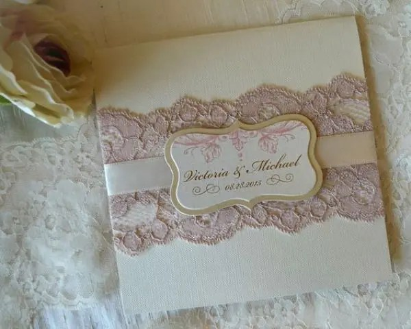 Lace Wedding Invitations Invite Fl