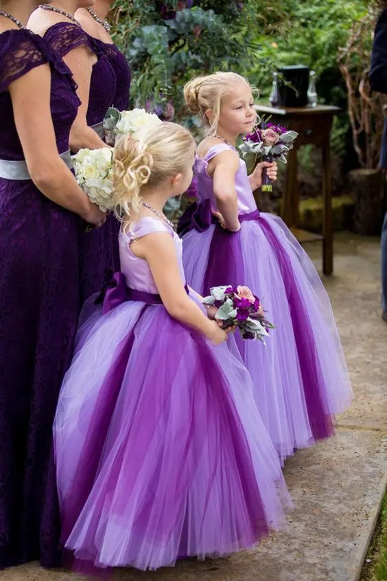 bold purple tutu dresses