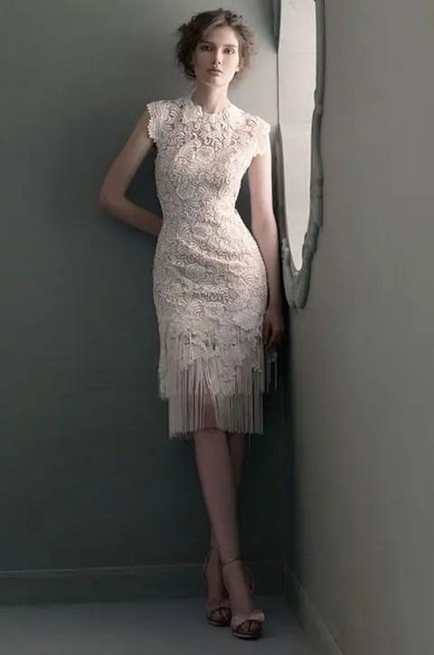 20 Fringe Wedding Dresses That Catch An Eye  Weddingomania