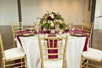 27 Timeless Burgundy And Gold Fall Wedding Ideas ...