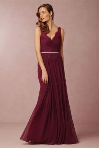 Picture Of Elegant marsala maxi bridesmaid dress