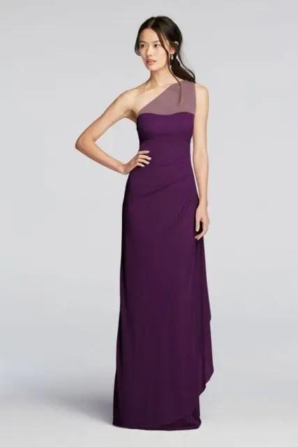 Elegant purple maxi dress