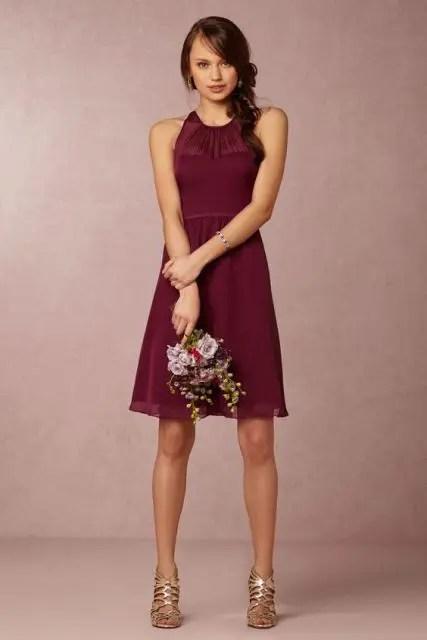 Simple wine colored dress