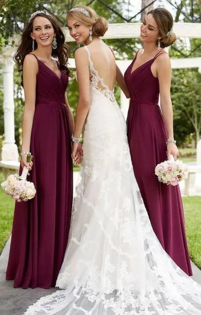 20 Stunning Marsala Bridesmaid Dress Ideas For Fall