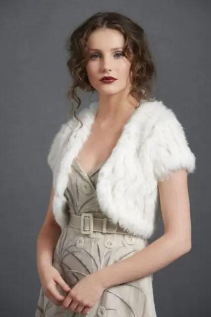 cropped faux fur vest