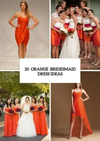 20 Eye-Catching Orange Bridesmaid Dress Ideas For Fall ...