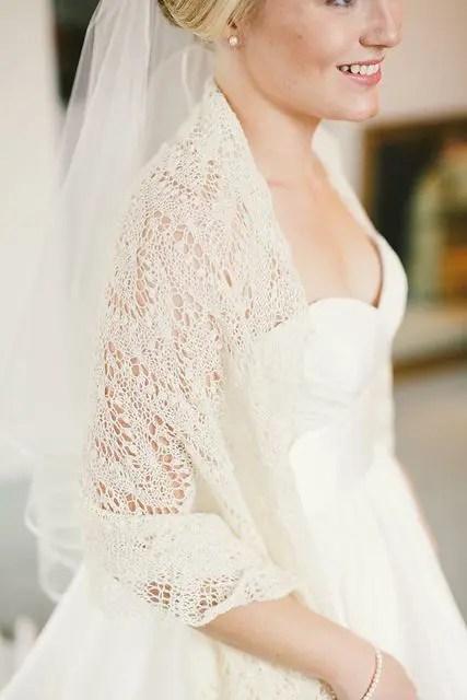 crocheted lace shawl