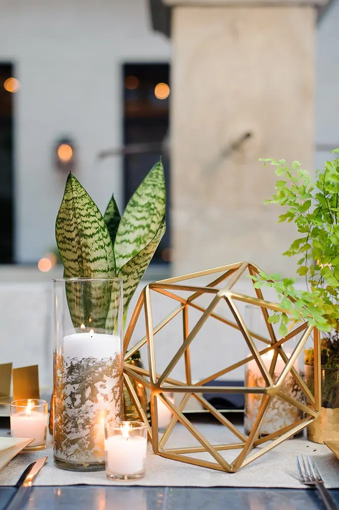Modern And Elegant Geometric Wedding  Weddingomania