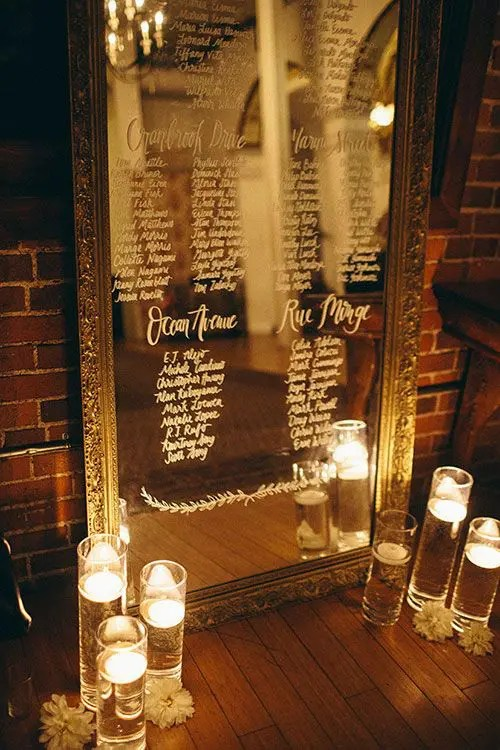 43 Creative Mirror Wedding Dcor Ideas  Weddingomania