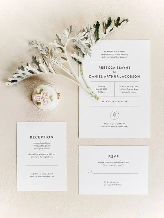 elegant modern invitations to get inspired