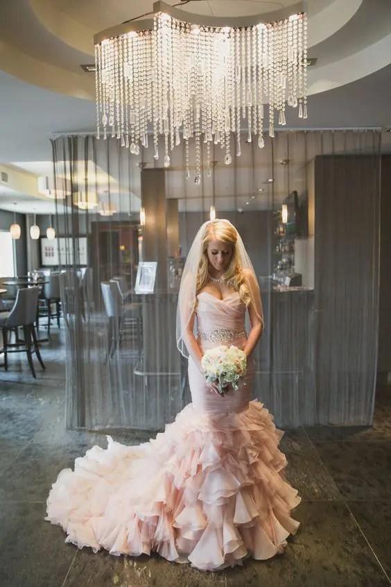 Allure Blush Wedding Dress