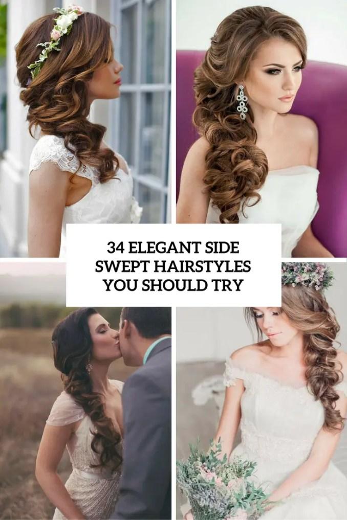 34 elegant side swept hairstyles you should try - weddingomania
