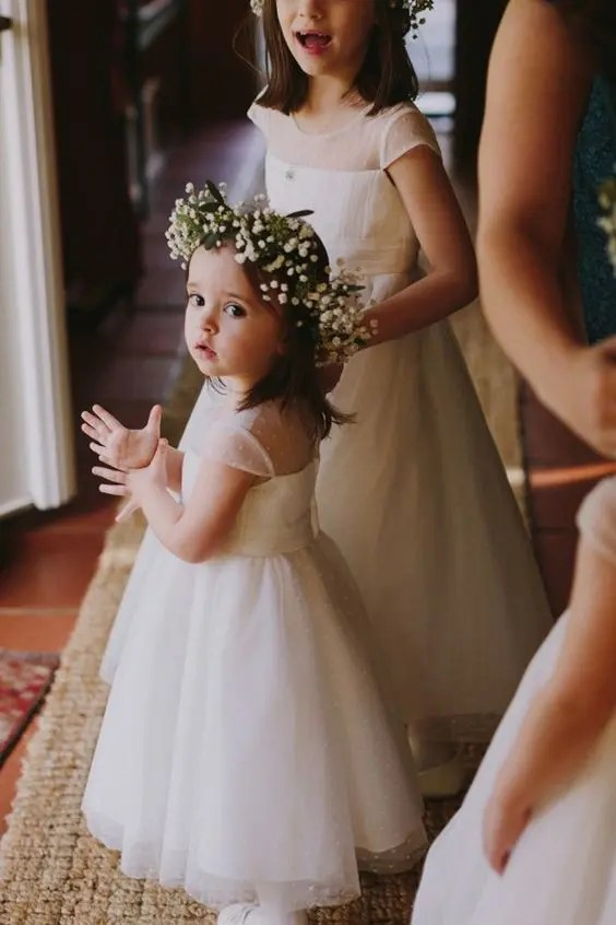 illusion neckline ivory midi dresses with cap sleeves