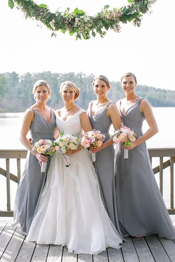 35 Romantic Grey And Pink Wedding Ideas
