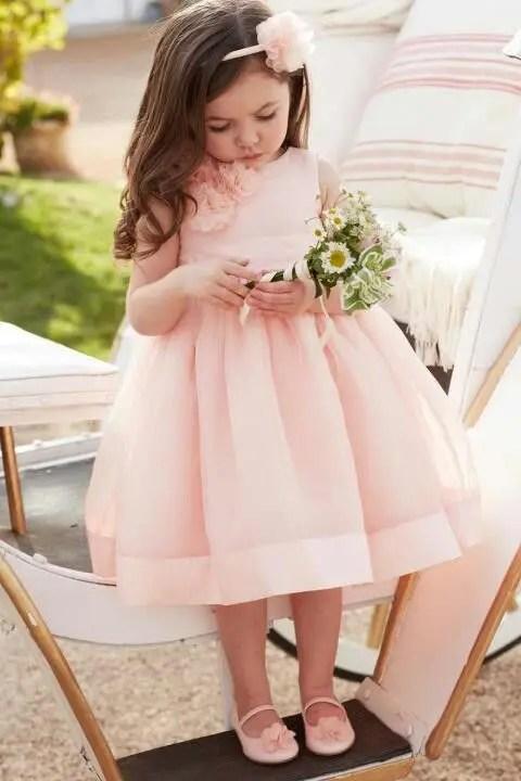 blush midi dress with flowers