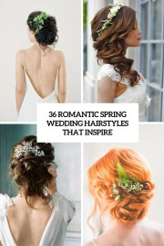 romantic spring wedding hairstyles