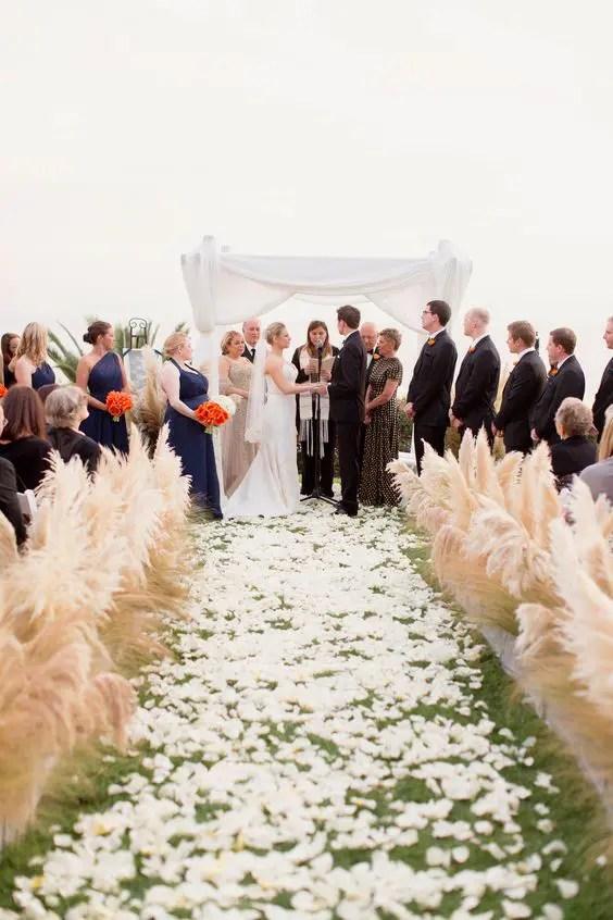 Aisle Flowers For Wedding