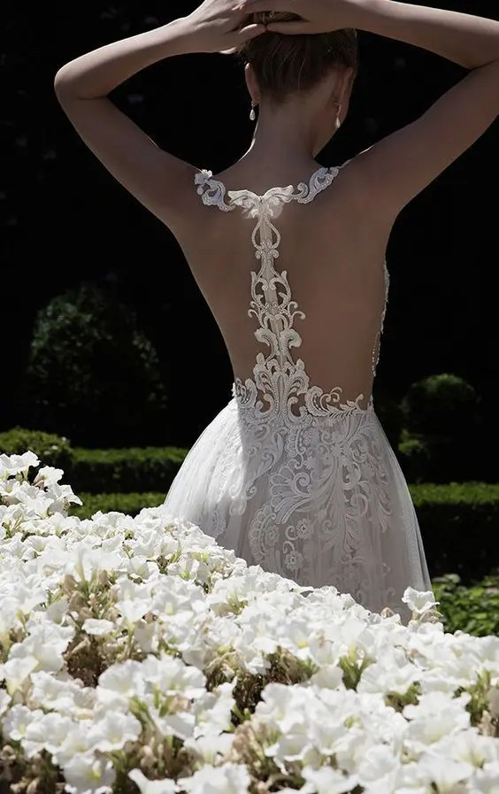 32 Eye Catching Racerback Wedding Dresses Youll Love