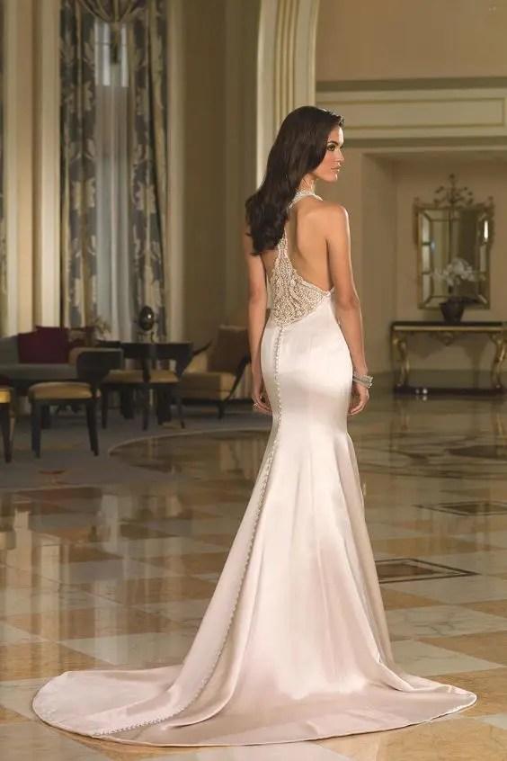 Racer Back Wedding Dress