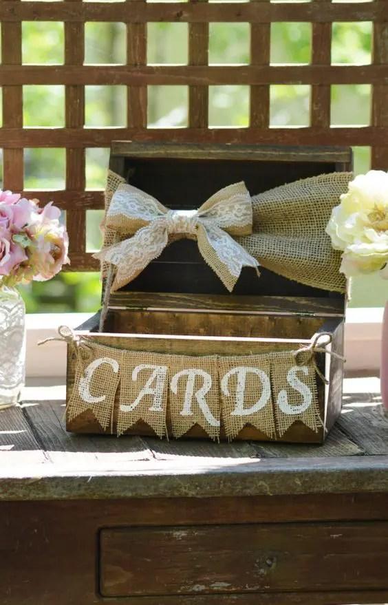 35 Rustic Wedding Card Boxes And Their Alternatives  Weddingomania