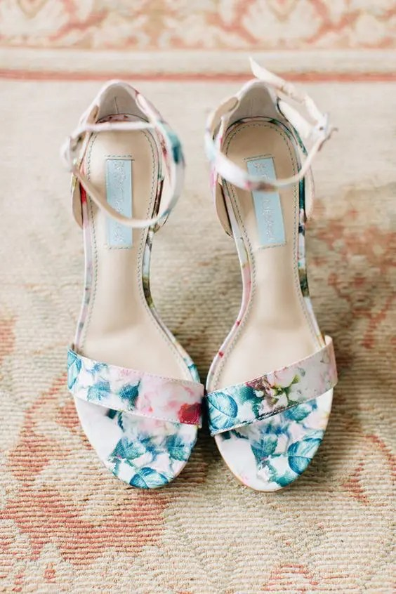 32 Floral Wedding Shoes Ideas For Spring And Summer