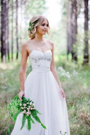relaxed summer woodland wedding