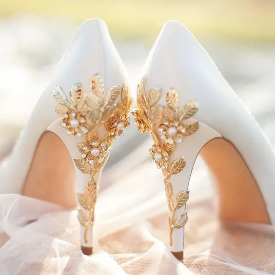 32 Floral Wedding Shoes Ideas For Spring And Summer Nuptials  Weddingomania