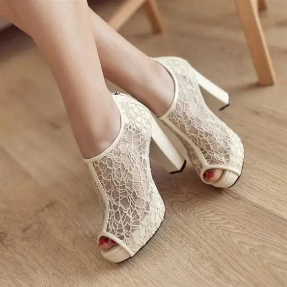 Ivory Gold Wedding Shoes