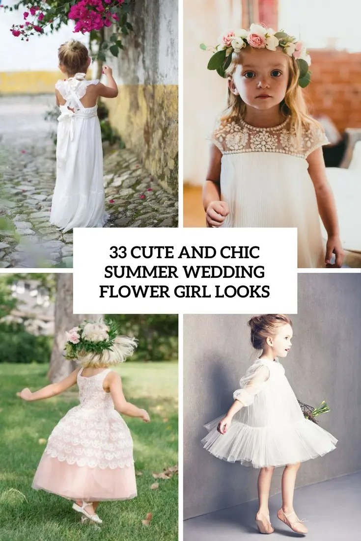 33 Chic And Cute Summer Wedding Flower Girl Looks
