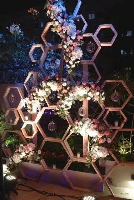 31 Trendy Geometric Wedding Backdrops  Weddingomania