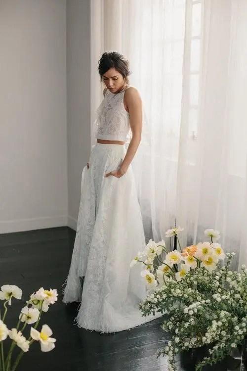 30 Effortlessly Chic Wedding Dresses With Pockets  Weddingomania