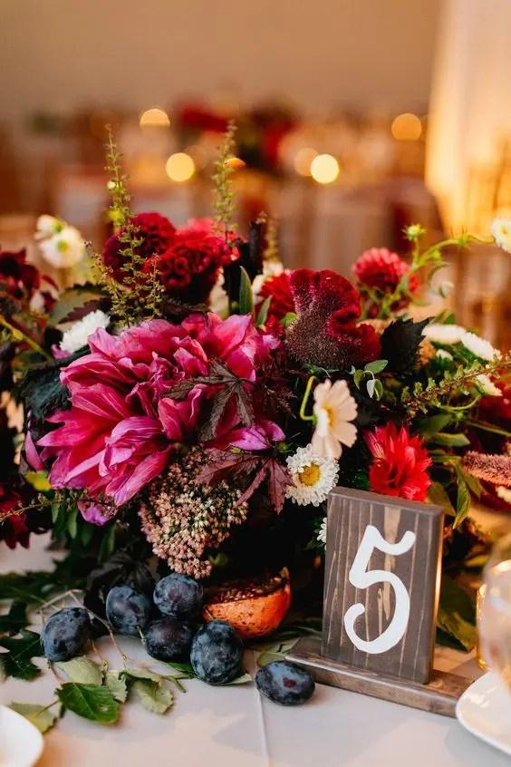 30 Gorgeous Jewel Tone Wedding Florals Ideas  Weddingomania