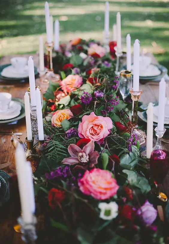 30 Fall Wedding Table Runners For Beautiful Decor