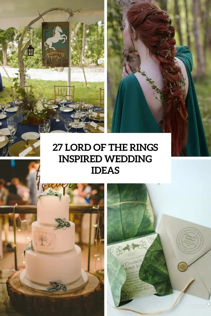 lord of the rings inspired wedding ideas cover