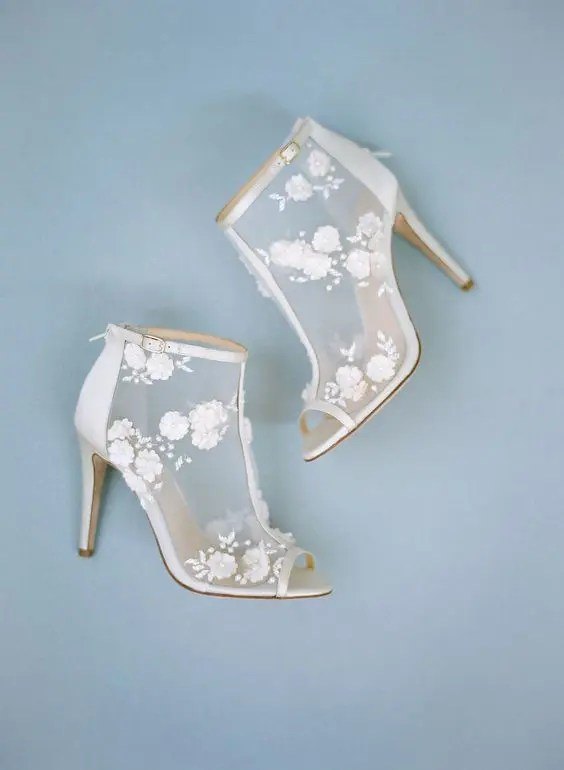 Blue Wedding Sandals Bride
