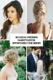 casual wedding hairstyles long