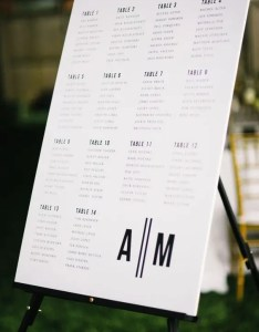 simple printable black and white seating chart on astand  enough for modern also creative ideas weddingomania rh