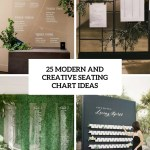 25 Modern And Creative Seating Chart Ideas Weddingomania