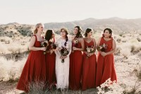 Retro Boho Desert Wedding In California - Weddingomania