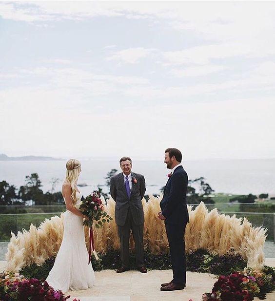 Beach Wedding Altar: The Hottest Wedding Trend: 22 Semi Circle Wedding Altars