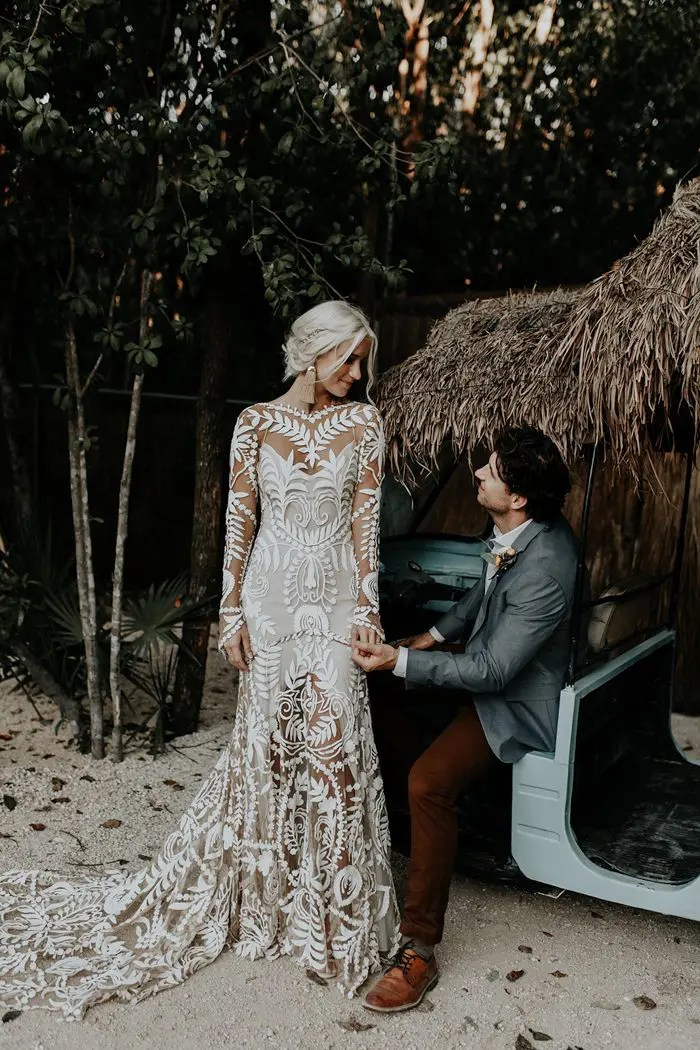 Boho Chic Tulum Destination Wedding Weddingomania