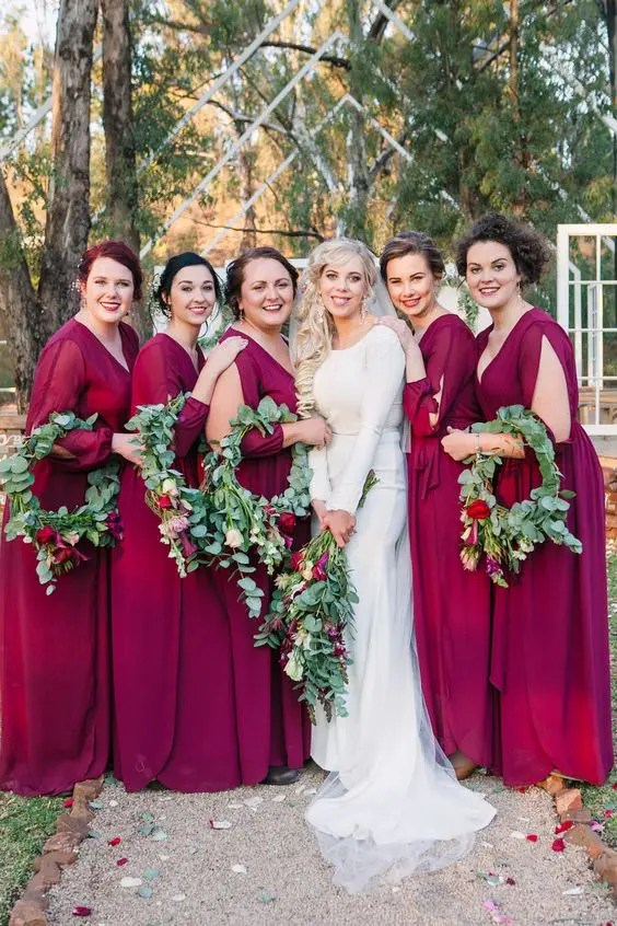 f5198f0d0b36 Matching Jewel-Tone Bridesmaids' Dresses | 15 Jewel Tone Bridesmaids'  Dresses To Make