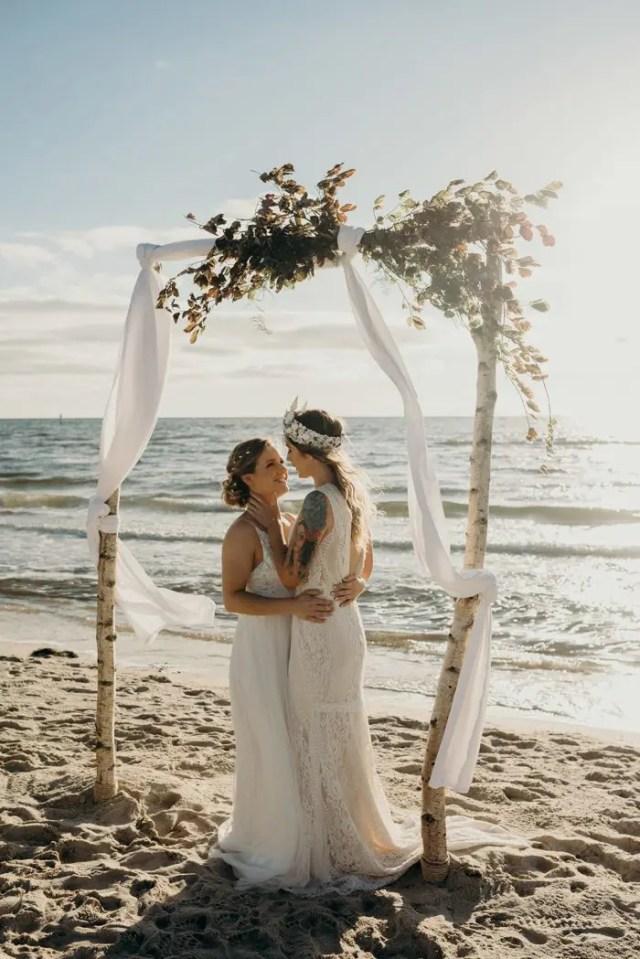 Boho Beach Wedding Shoot With Adorable Details