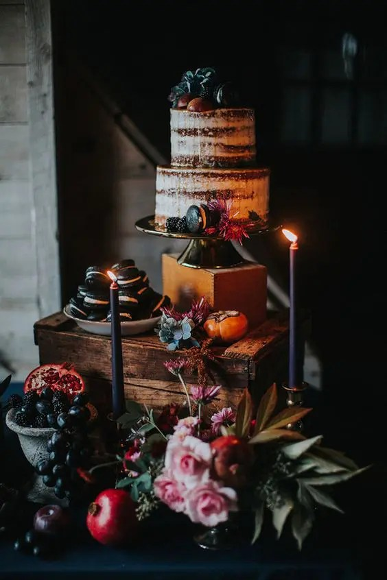 highlight your wedding cake placing it on the tallest stand that you have