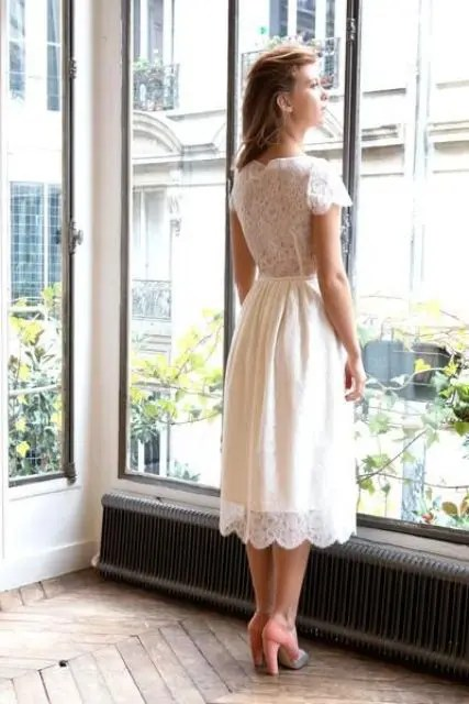 Bridal Midi Wedding Dresses To Stand Out Crazyforus,Wedding Dress Glitter Top