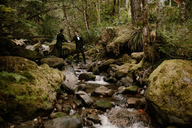 They chose a gorgeous forest location to have their wedding